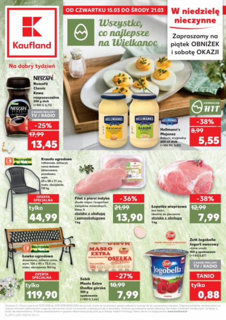 Kaufland gazetka od 15.03.2018 do 21.03.2018