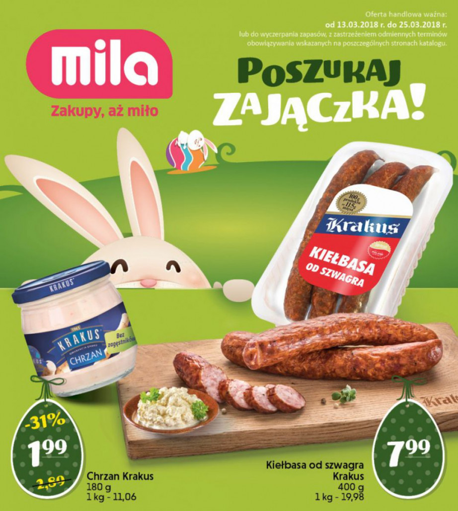 Mila gazetka od 13.03.2018 do 25.03.2018