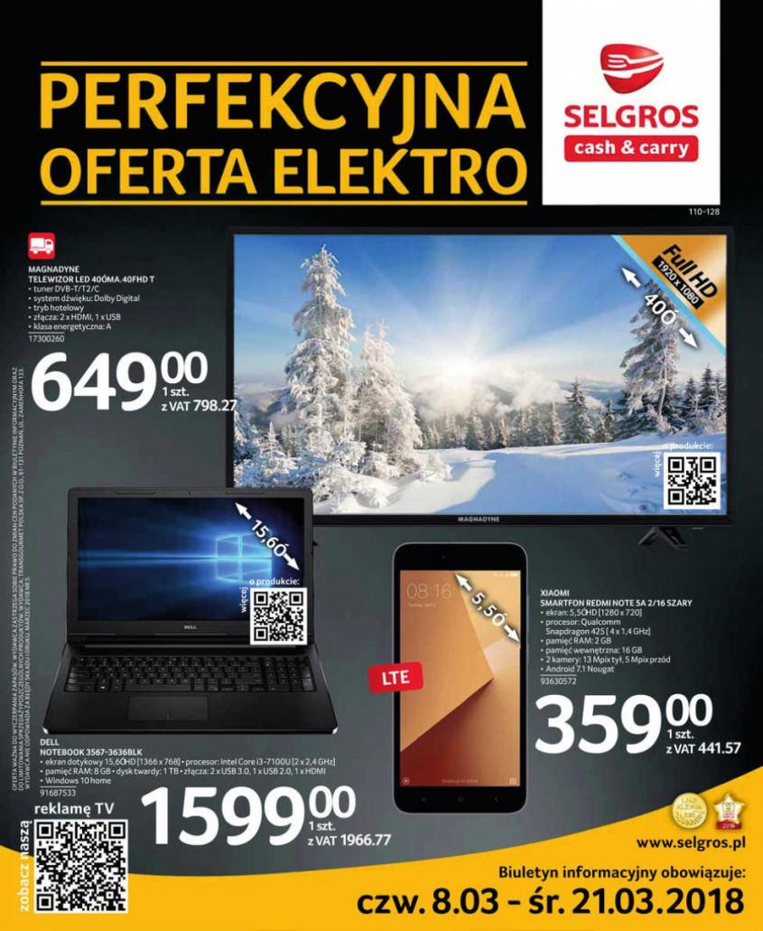 Selgros Gazetka od 08.03.2018 do 21.03.2018