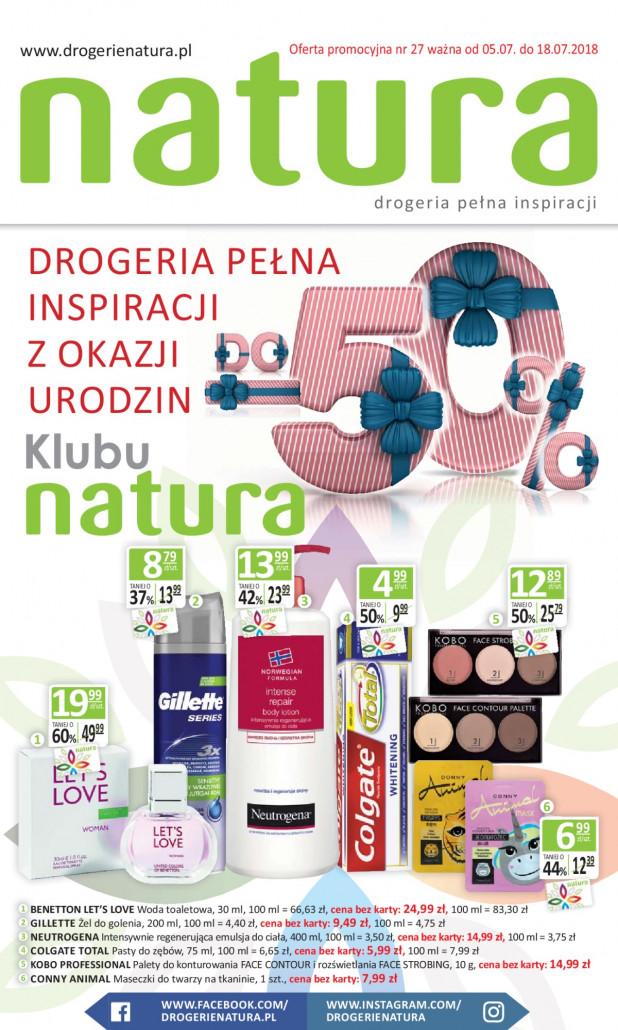Drogerie Natura gazetka od 09.07.2018 do 15.07.2018