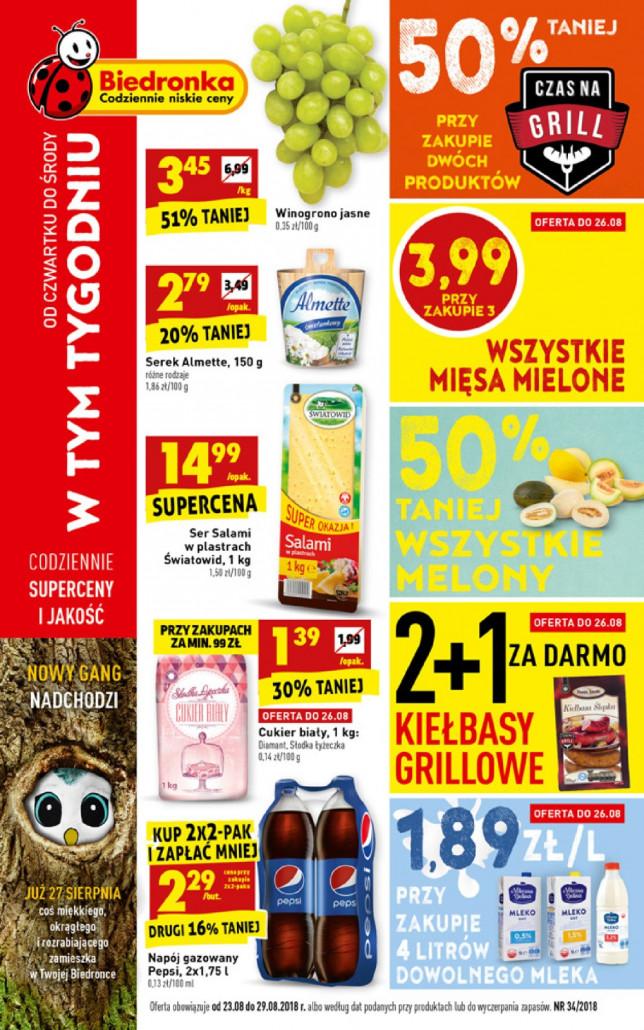 Gazetka BIEDRONKA - W tym tygodniu, ważna: od 23.08.2018 do 29.08.2018