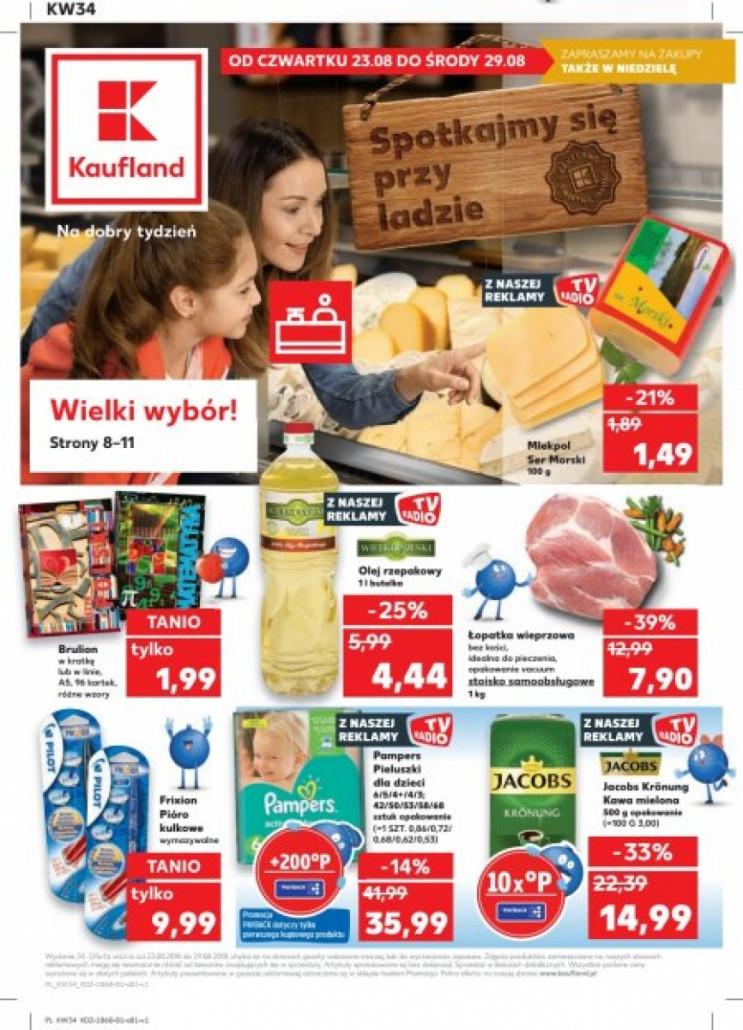 Aktualne promocje, oferty tygodnia, gazetka promocyjna Kaufland 23.08.2018