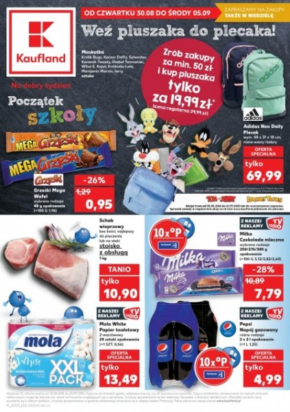 Gazetka KAUFLAND od 30.08.2018 do 05.09.2018