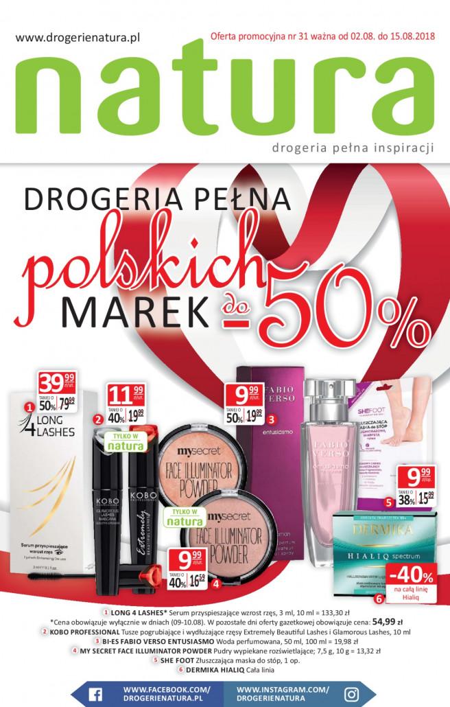 Drogerie Natura gazetka od 02.08.2018 do 15.08.2018