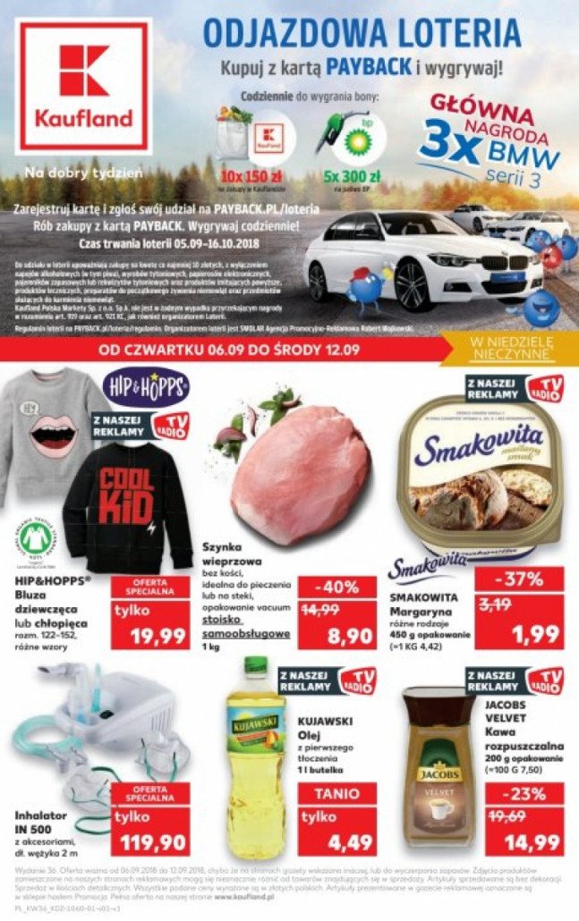 Gazetka KAUFLAND od 06.09.2018 do 12.09.2018