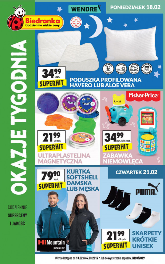 Gazetka BIEDRONKA - Okazje tygodnia, od 18.02.2019 do 06.03.2019